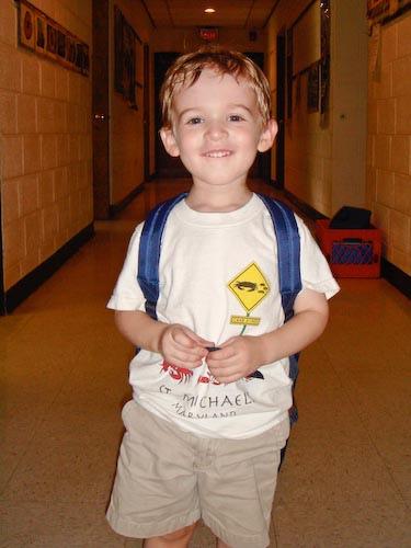 Jackson's first day of school ©Daniel Sroka