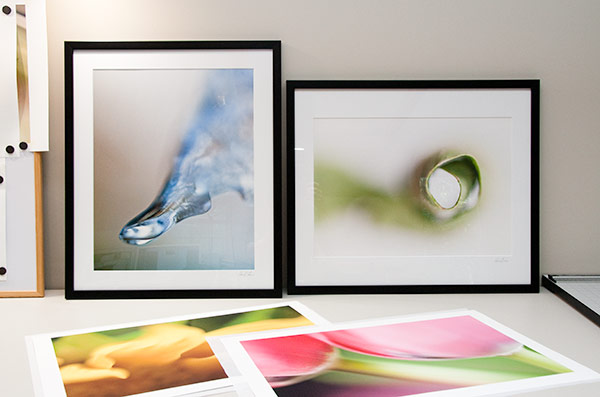 Framing my photographs for an upcoming show.