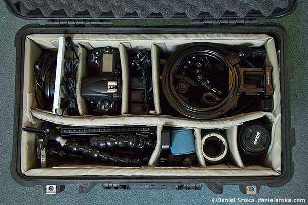 All of my equipment packed up and ready to go.