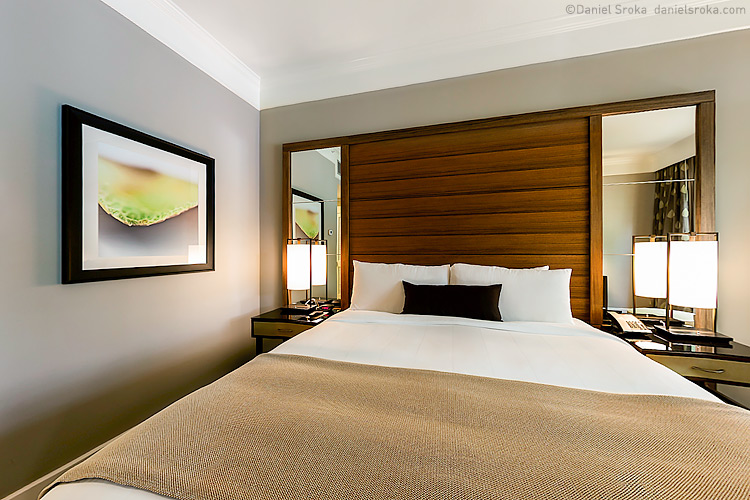 Daniel Sroka's abstract photography in the king suite of The Woodlands Resort.