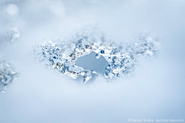 An abstract of melting ice and snow. Fine art nature photograph by Daniel Sroka.