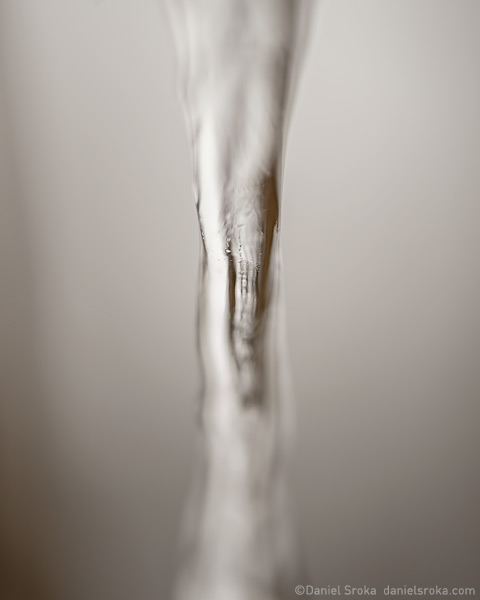 An abstract photograph of melting ice. Fine art nature photograph by Daniel Sroka.