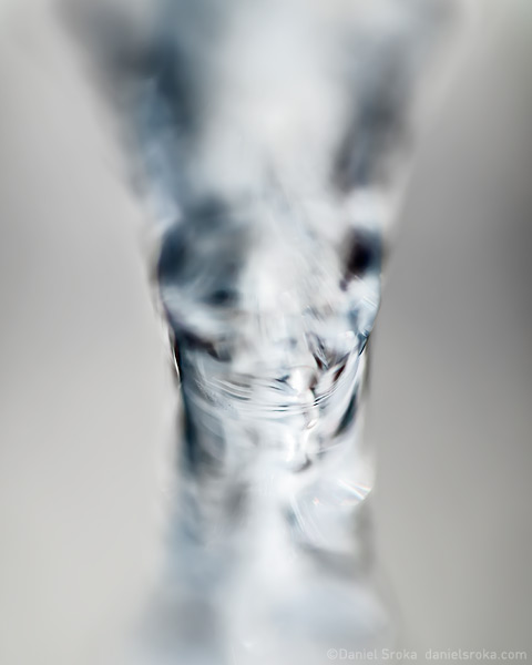 An abstract of melting ice. Fine art nature photograph by Daniel Sroka.
